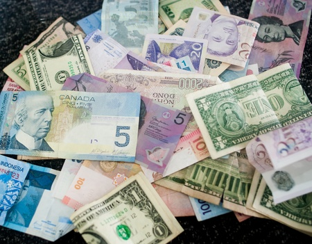 Different country moneys photo