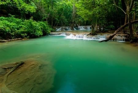 Thailand waterfall in Kanjanaburi (Huay Mae Kamin) photo