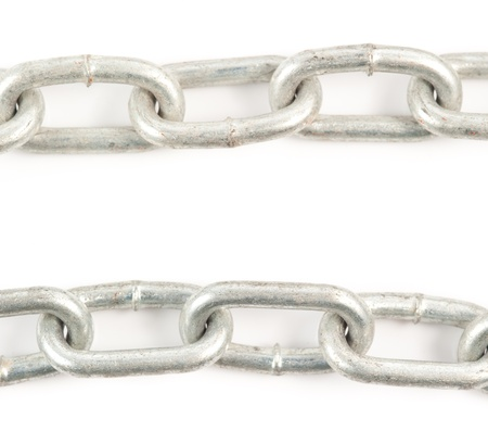 Chain on White Background photo