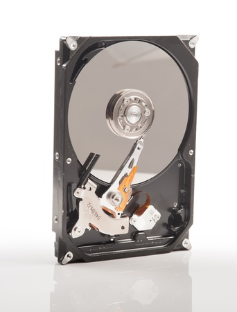 harddisk drive (HDD) on white background photo