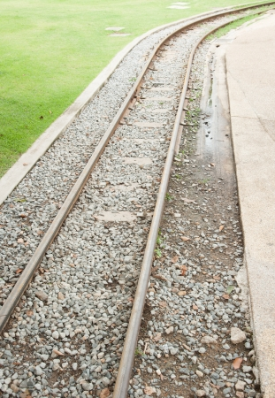 end of a long day: Empty railroad track