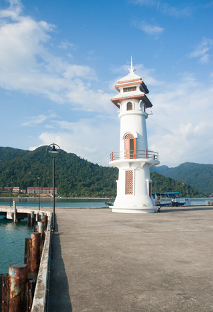 chang: Lighthouse on the island, Koh Chang, Thailand Stock Photo