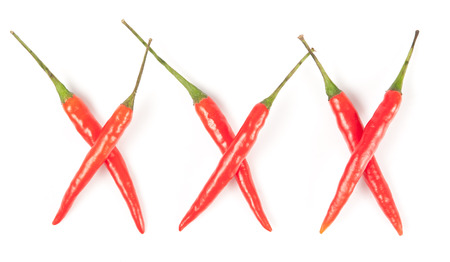 Red chili peppers spelling XXX