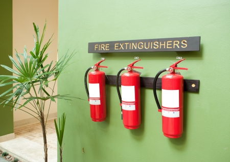 Fire Extinguishers on Wall