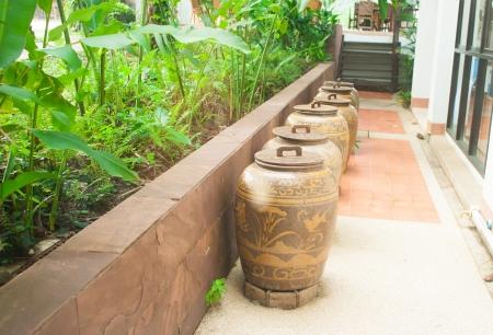 Ancient Thai Jars for storage rainwater