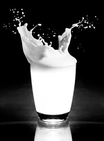 milk splashing from the glass photo