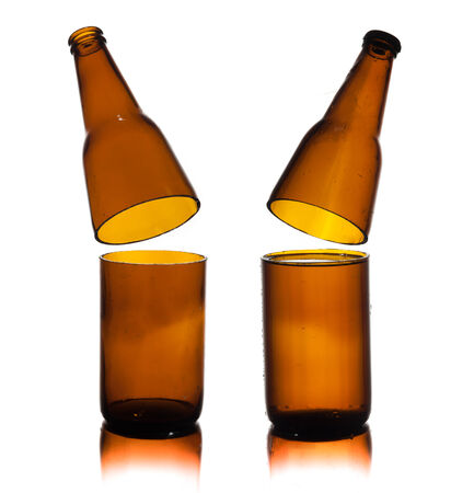 Cut Glass of beer on white background