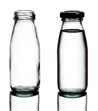 transparent glass bottle photo