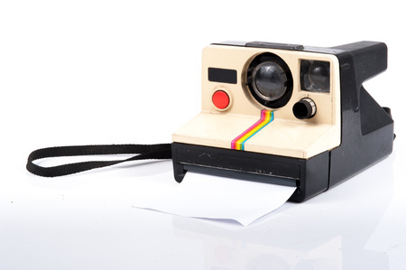 Instant camera, with clipping path photo