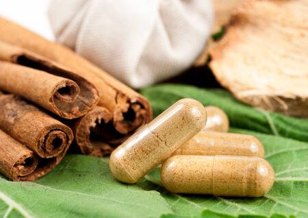close up image: Close up image of herbal medicine Stock Photo