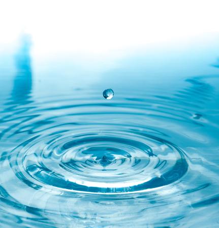 turquesa: Gota de agua de cerca