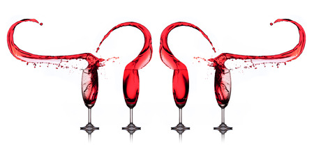 Red wine splash photo