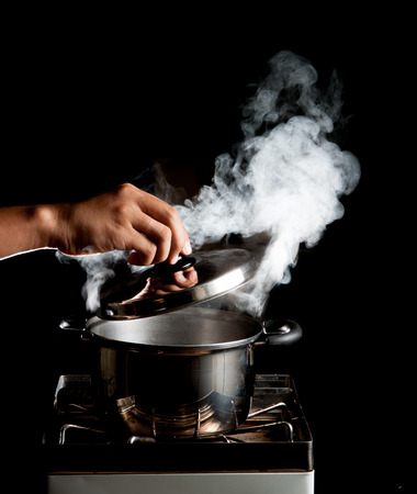 Cooking in the pot photo
