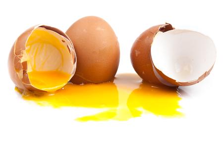 ailment: Broken egg isolated