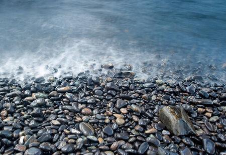 stack rock: Pebbles beach in Koh Hin Ngam, Andaman Sea, Thailand