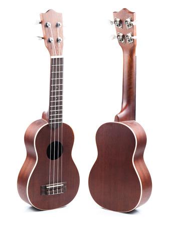 Ukulele hawaiian guitar isolated on white background photo