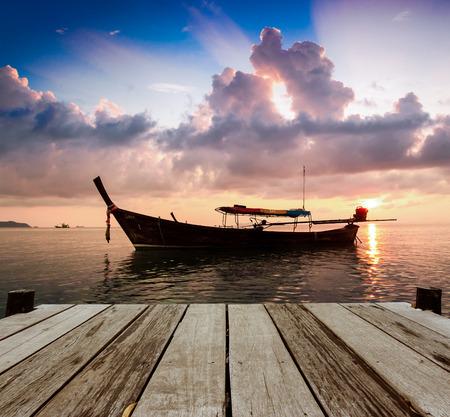 Sunset at Kho Lipe, Thailand photo