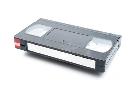 vhs videotape: Videotape Isolated On White Background.