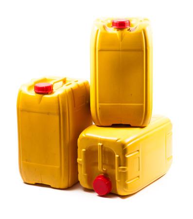 Yellow plastic gallon Stock Photo