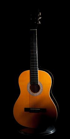 pentagramma musicale: la chitarra nel buio Archivio Fotografico