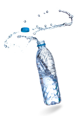 Water up from a plastic bottle Standard-Bild