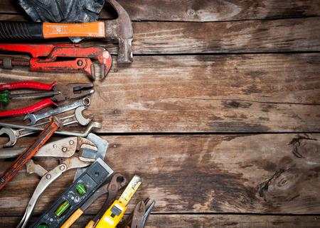 tool renovation on  wood photo