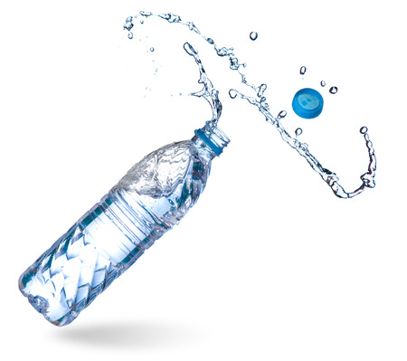 Water up from a plastic bottle Banque d'images