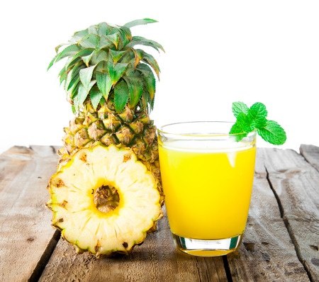 pineapple fresh juice drink photo