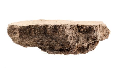 humus soil: Pile soil isolated on white
