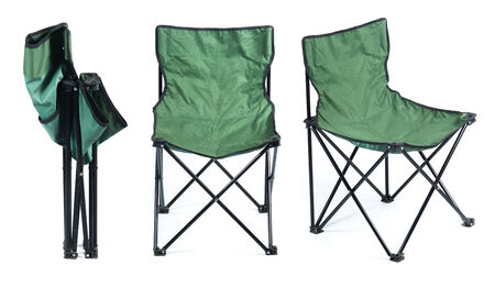 folding chair: Folding chair isolated on white background