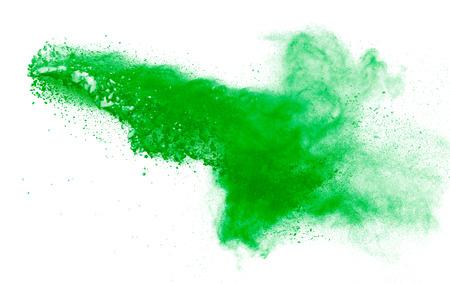 powder explosion isolated on white