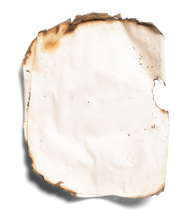burnt paper: burnt paper from a fire
