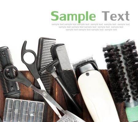 kapster: kapper tools op hout