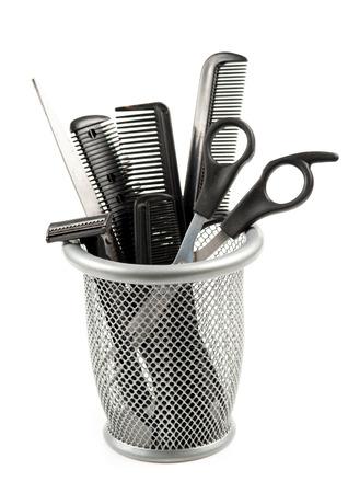 kapster: kapper gereedschap geïsoleerd op wit