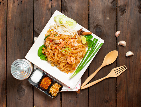 Thailand style stir-fried rice noodles (Pad Thai)