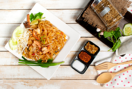 Thailand style noodles, stir-fried rice noodles (Pad Thai)