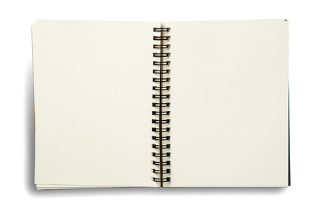 notebook. textured isolated on the white backgrounds