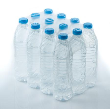 bottled water: packed bottled water