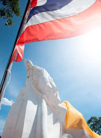 ayothaya: the big buddha sleeping statue from ayothaya of thailand