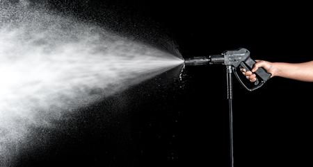 Postříkání vodou na černém pozadí Reklamní fotografie