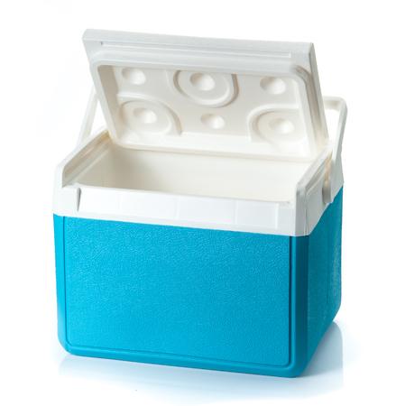 vertical fridge: Handheld Blue refrigerator