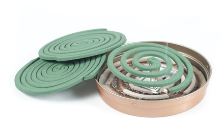 coil: Mosquito coil on white background