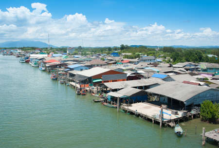 fishermen's: Fishermens Village, on the Coast of Thailand