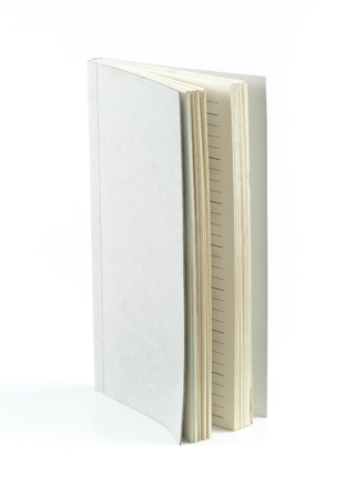 hardcovers: Grey book isolated on white
