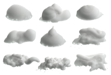 shaving cream: Collection of Shave foam (cream)  isolated on white
