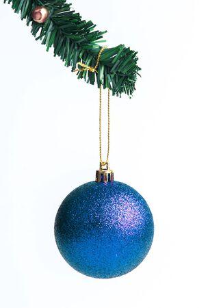 blue ball: Blue Christmas ball