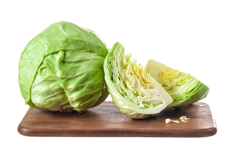 savoy cabbage: Cabbage isolated on white background