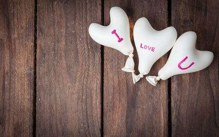 heart balloon: heart balloon on wood
