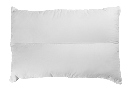 case sheet: white pillow isolated on white background