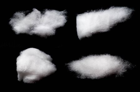 cotton cloud: Cotton Wool Cloud isolated on Black Background Stock Photo